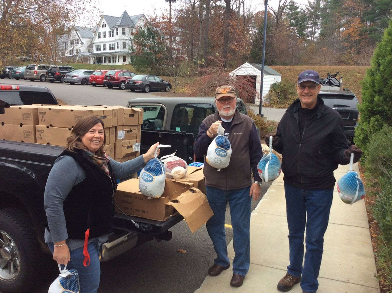 Volunteers Unloading Thanksgiving Turkeys